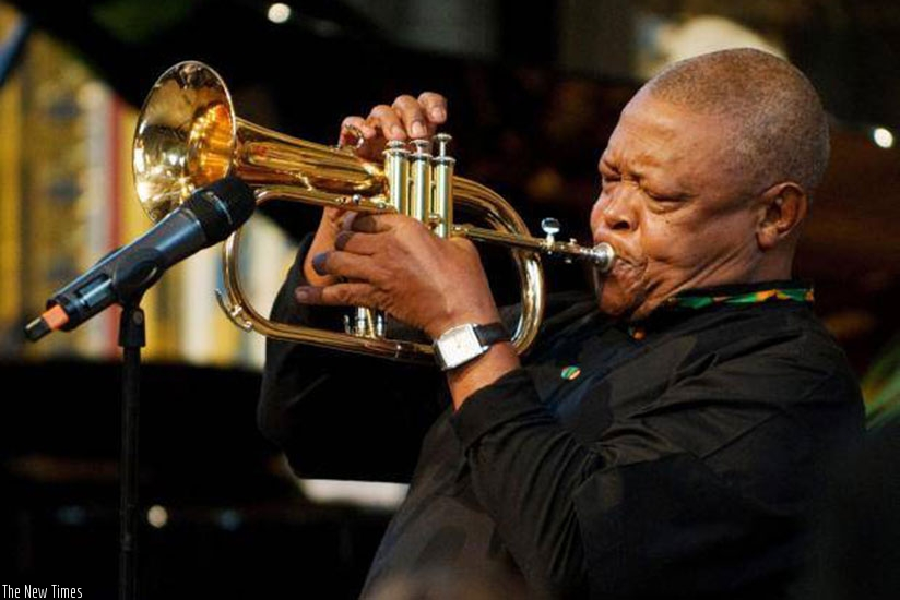 Masekela's songs Up, Up and Away and instrumental Grazing in the Grass were hits in the US in the late 60s. / Net