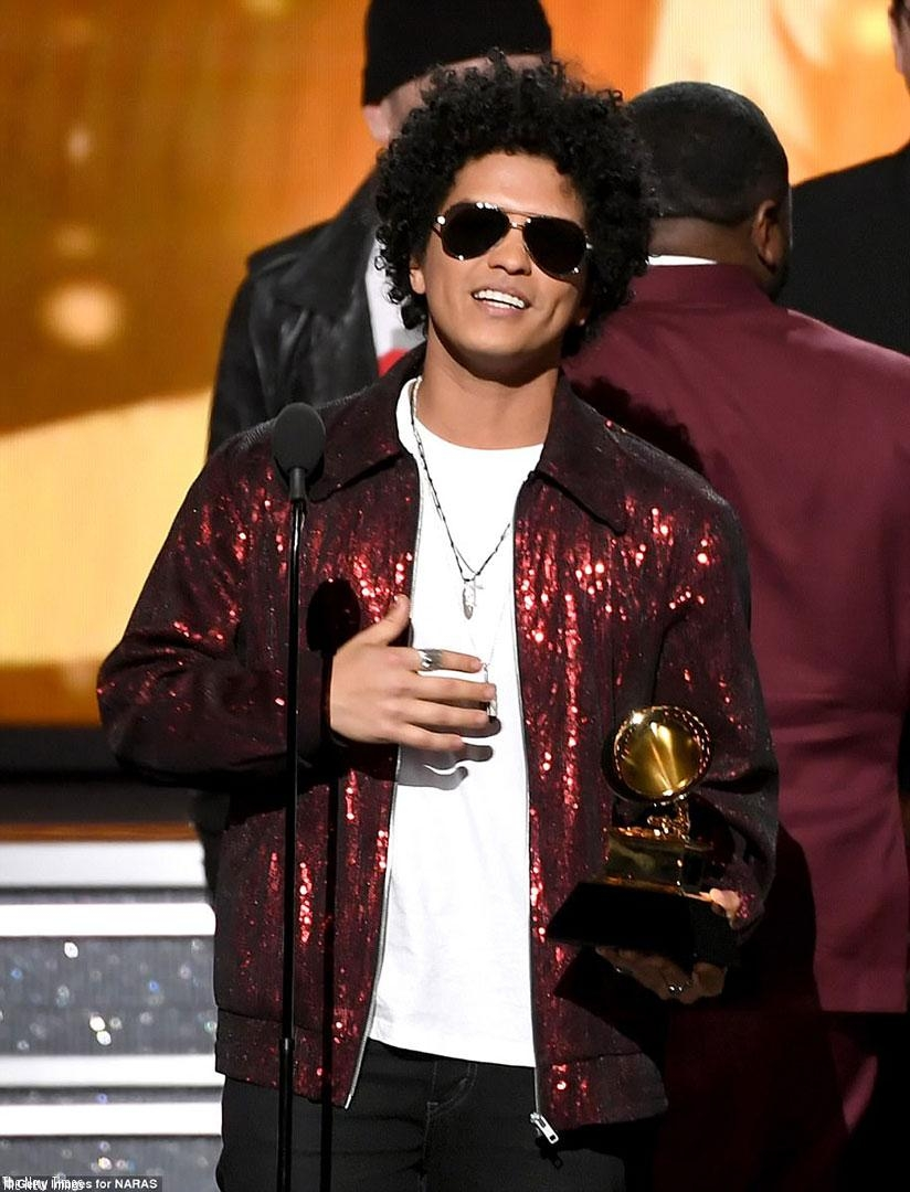Bruno Mars swept the top categories at the 60th Grammy Awards as he took home the coveted Album, Record, and Song Of The Year awards at the gala event in New York City on Sunday. (....
