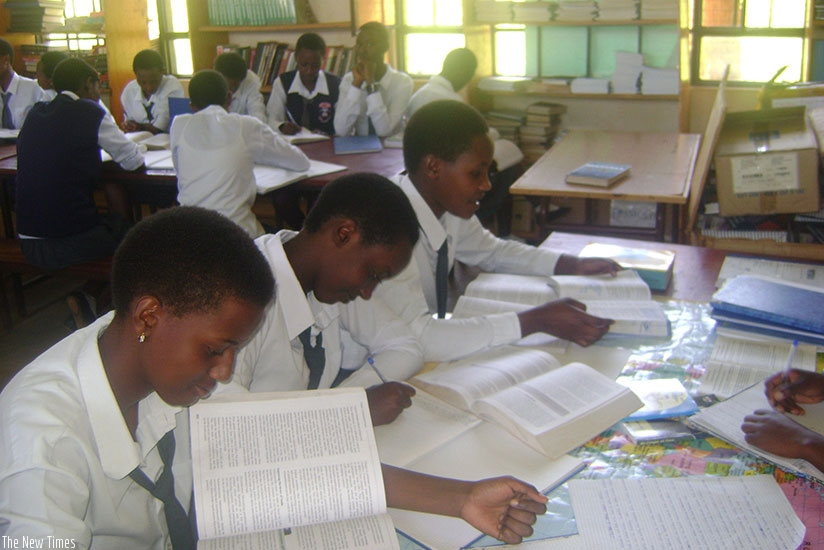 Students doing revision. Getting straight to learning on the first day of school helps set the right mood and pace for the academic term. (Lydia Atieno)