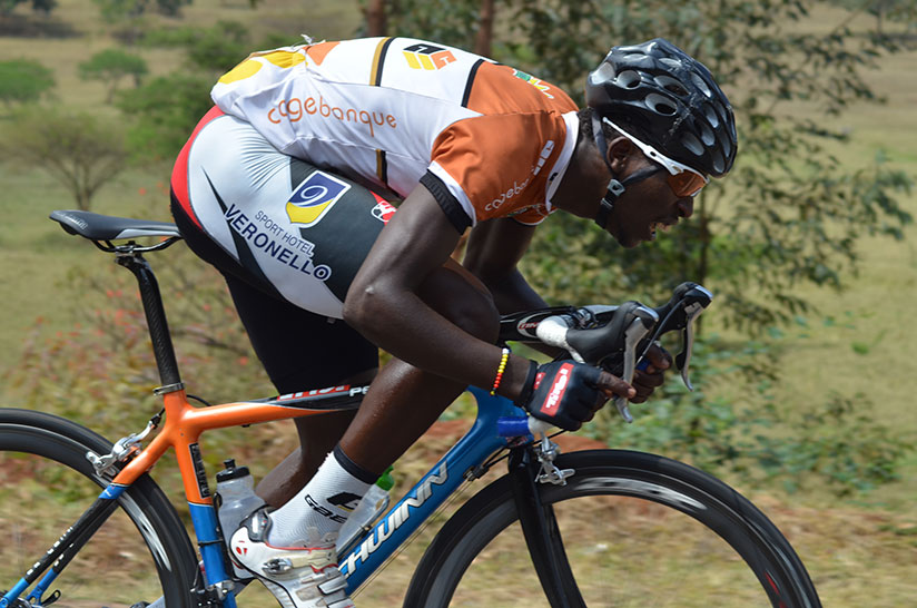 Rwanda's Joseph Areruya, seen here during a past local race, was voted the most combative rider in stage of Tour de l'Espoir race in Cameroon. / S. Ngendahimana