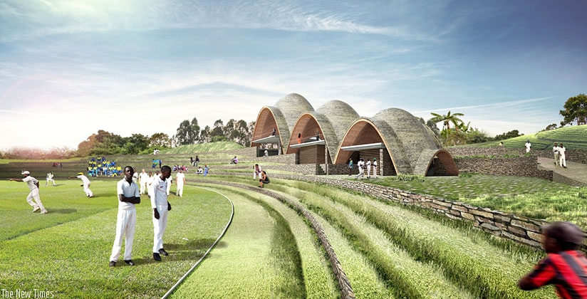 An artist's impression of Rwanda Cricket stadium. (Courtesy)