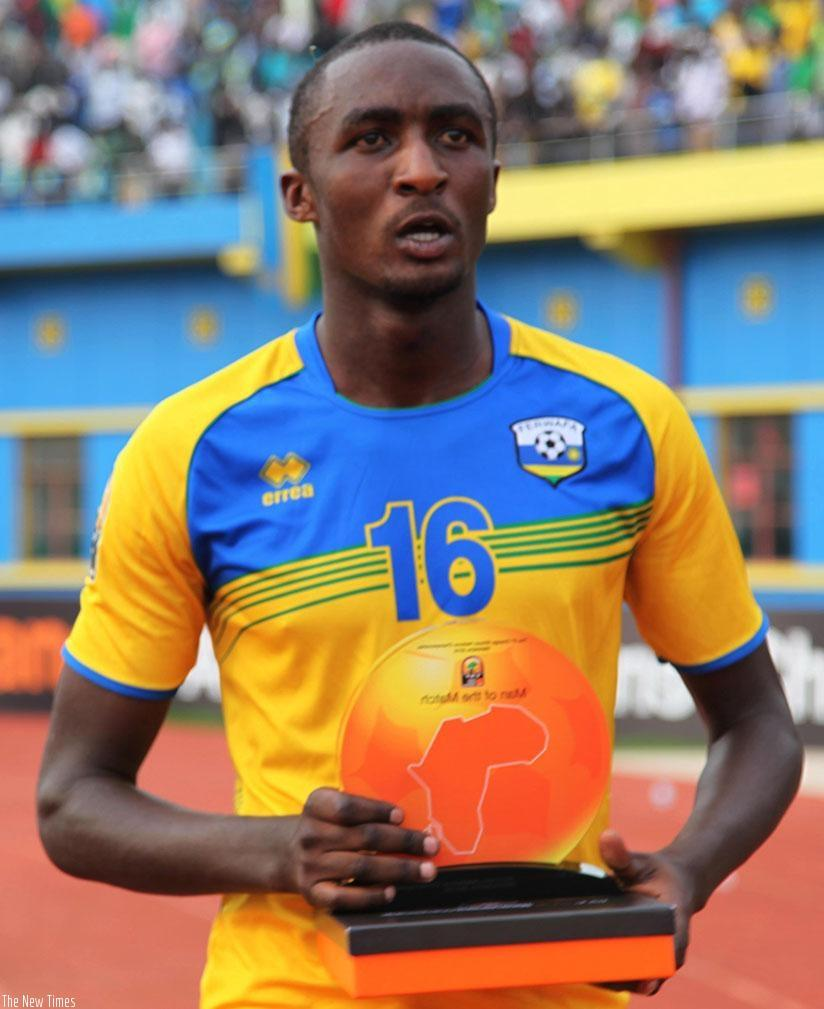 Sugira scored three goals in four matches for Amavubi during the 2016 CHAN finals and was the only Rwanda named on the team of the tournament.