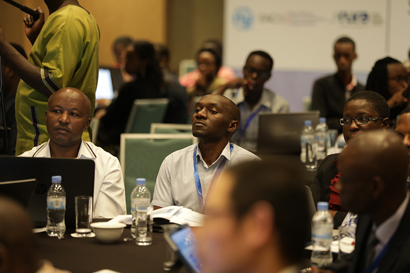 Participants during the meeting on satelite technology in Kigali, yesterday. Timothy Kisambira.