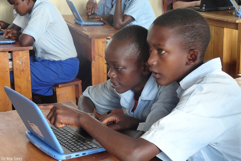 Students during a computer class. (File photo)