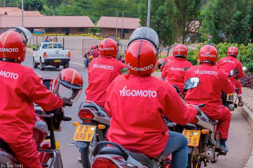 Yego Moto riders on the road in Kigali. (Net)