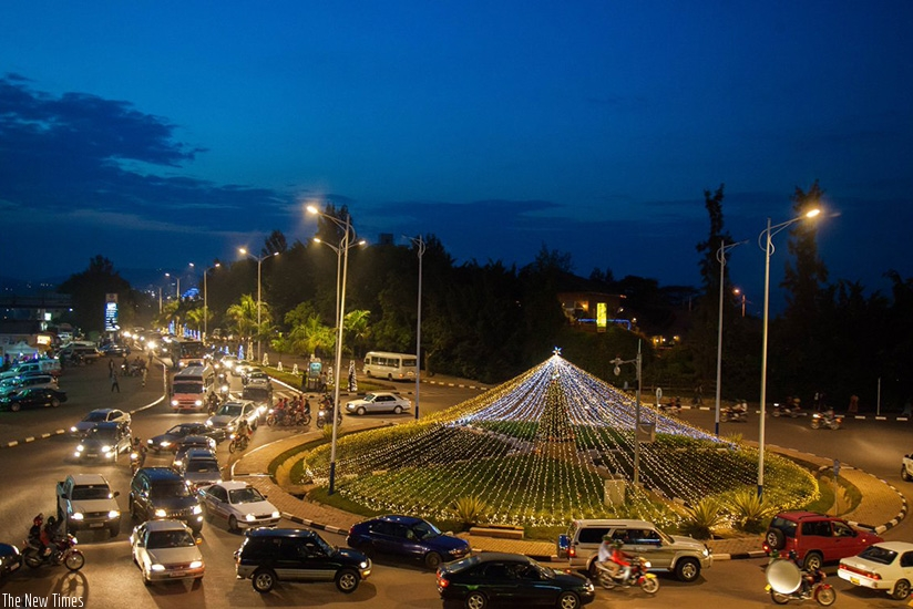 A partial view of the Kisementi roundabout in Remera on Kigali International Airport road, which will not be accessible to motorists during the course of the African Union Summit n....