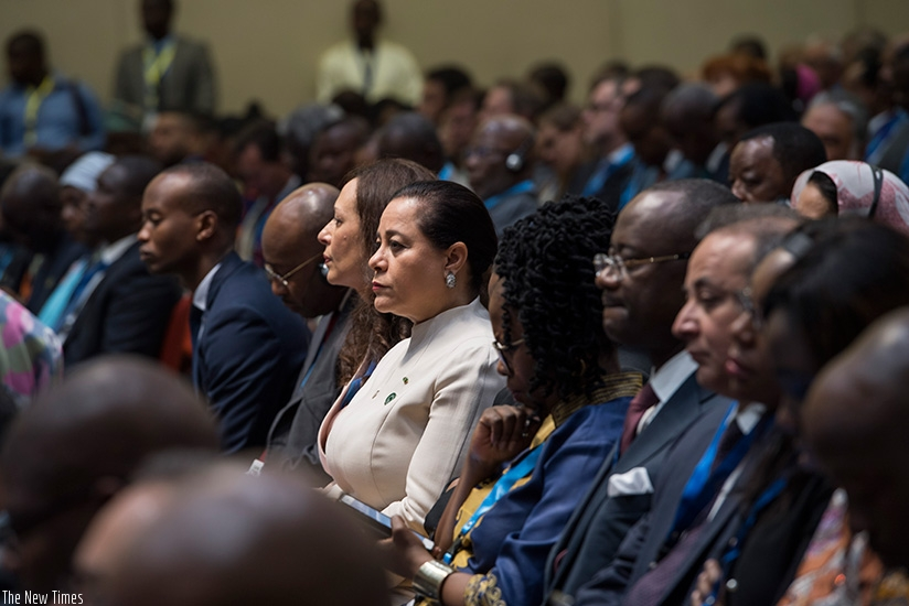 Delegates during the African Continental Free Trade Area Business Forum in Kigali yesterday. (Courtesy)