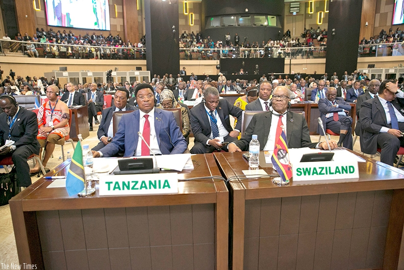 Delegates at the 10th Extraordinary African Union Summit, held in Kigali, during which 44 countries signed the African Continental Free Trade Area deal on Wednesday. Courtesy
