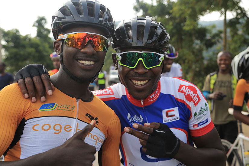 1521922544Rene-Jean-Paul-Ukiniwabo-of-Les-Amis-Sportifs-and-Gasore-Hategeka-of-Nyabihu-Cycling-club-before-the-race