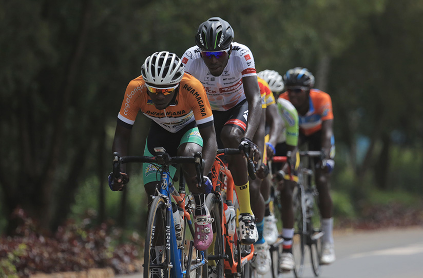 1521922236Jean-Claude-Uwizeye-and-Valens-Ndayisenga-lead-other-riders-in-a-break-away,-they-both-completed-their-deal-to-join-France-based-team-Pays-Olonne-Cycliste