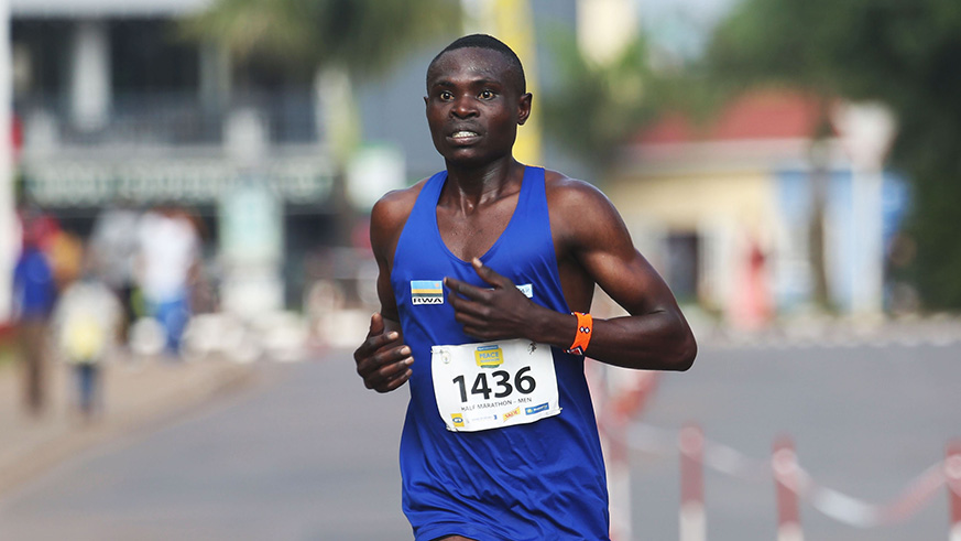 Hitimana during the last Kigali International Peace Marathon. / Sam Ngendahimana.