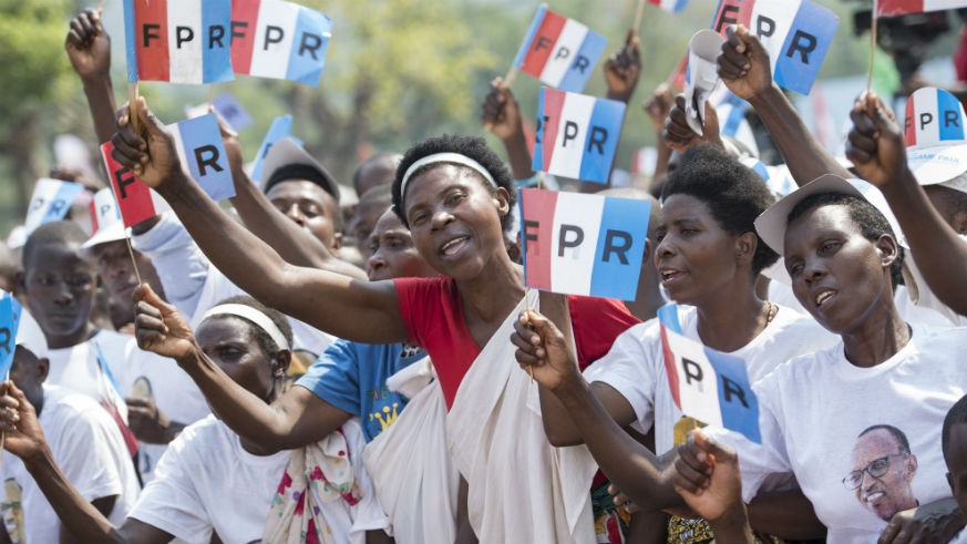 Members of RPF-Inkotanyi during the presidential elections held last year. / Courtesy