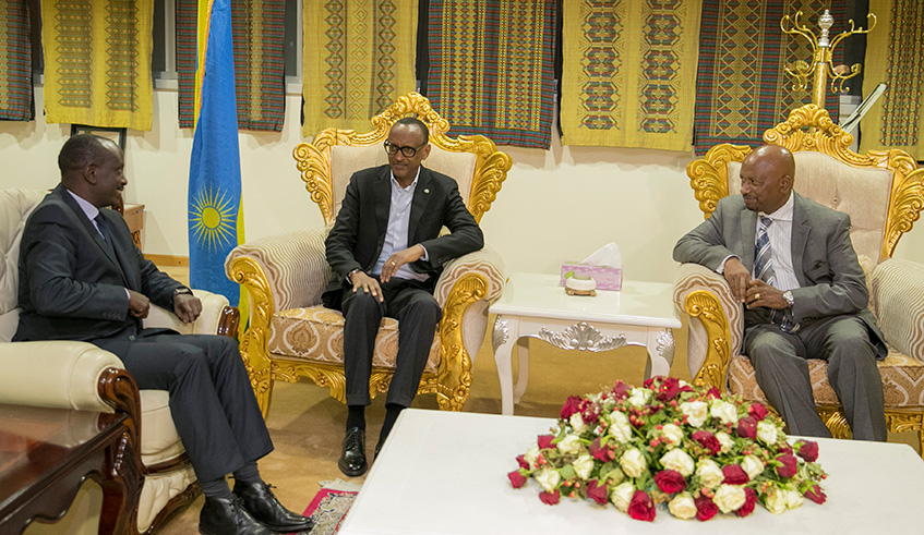 Kagame in Ethiopia for AU summit
