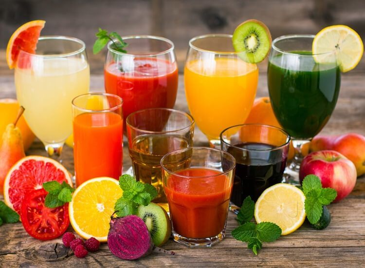 Juices contain many health-promoting nutrients – such as vitamin C, polyphenols and carotenoids. Net photo