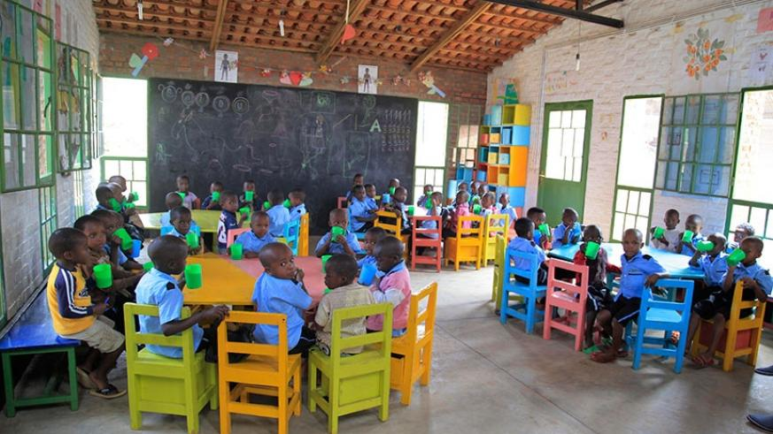 Children in an Early Childhood classroom. The government has appealed for involvement of different stakeholders to scale up the enrollment of children in pre-primary.