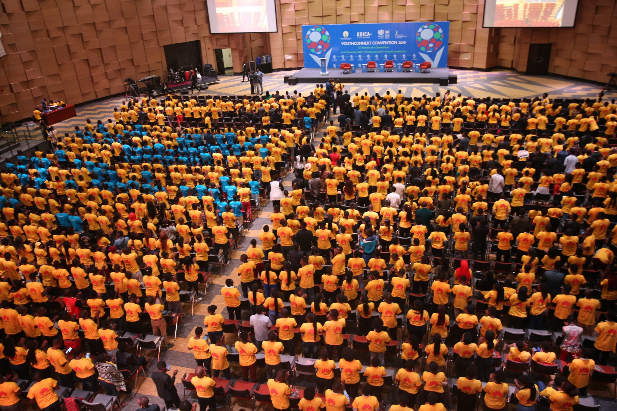 Over 3000 youths taking part in YouthConnekt Convention 2019 at Intare Conference Arena on 18 Wednesday./Courtesy