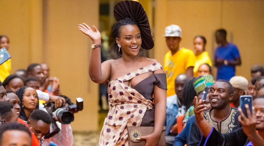 Actress Nadege Uwamezi hits the red carpet in style. Courtesy photos.
