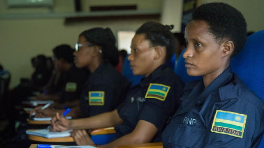 Police women during the conference.