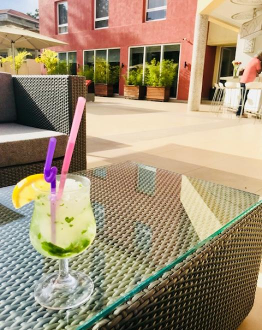 A cold cocktail by the pool Park Inn