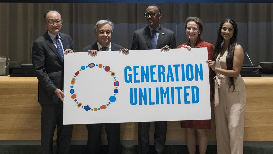 Kagame Joins Generation Unlimited Leaders Group