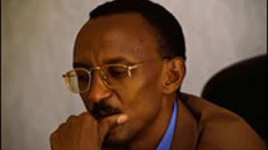 H.E. President Kagame at a recent press conference