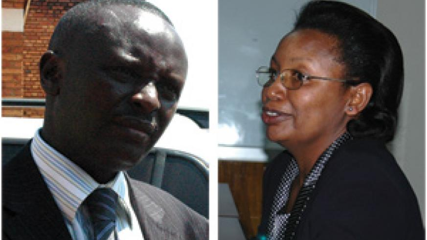 Ngoga has called in the services of Kamagaju (right) as investigations are extended into the management of the government's fuel strategic reserves. (New Times' Photos)