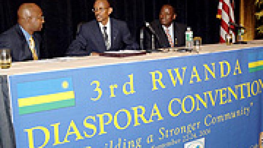 President Paul Kagame at the Diaspora convention in United States in 2006. (File photo)