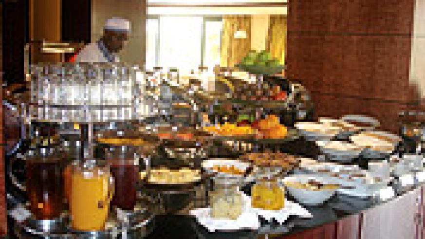 Serena's diplomatic Restaurant for breakfast and buffet.