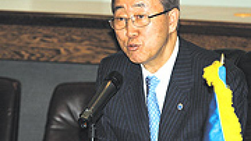 UN Secretary General Ban Ki Moon.