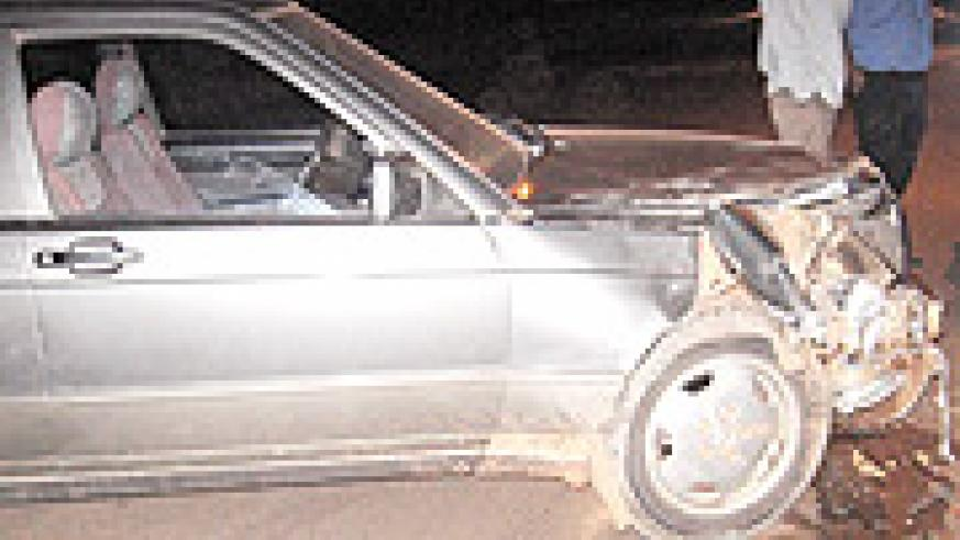 Smashed: The result of a drink driving accident. (Photo / K. Scroggins).