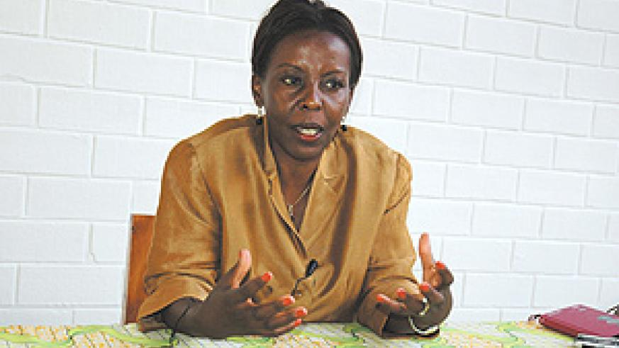 Minister of Information Louise Mushikiwabo. (File photo).