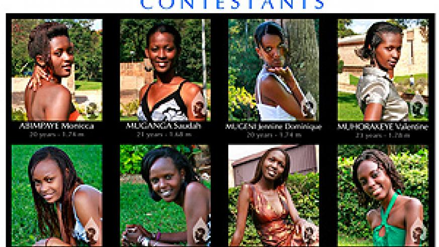 MISS CAMPUS 2008 Contestants Card.