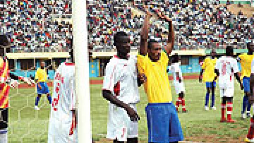 Labama Bokota Kamana featuring for the national team against Liberia last year in African nations Cup qualifier. He is expected to line up against Ethiopia.