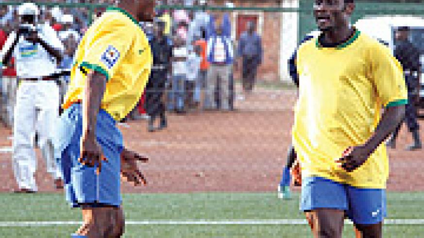 CREATOR AND SCORER:  Bokota Kamana(L) and Abedi Makasi will be leading Rwanda's quest for goals.