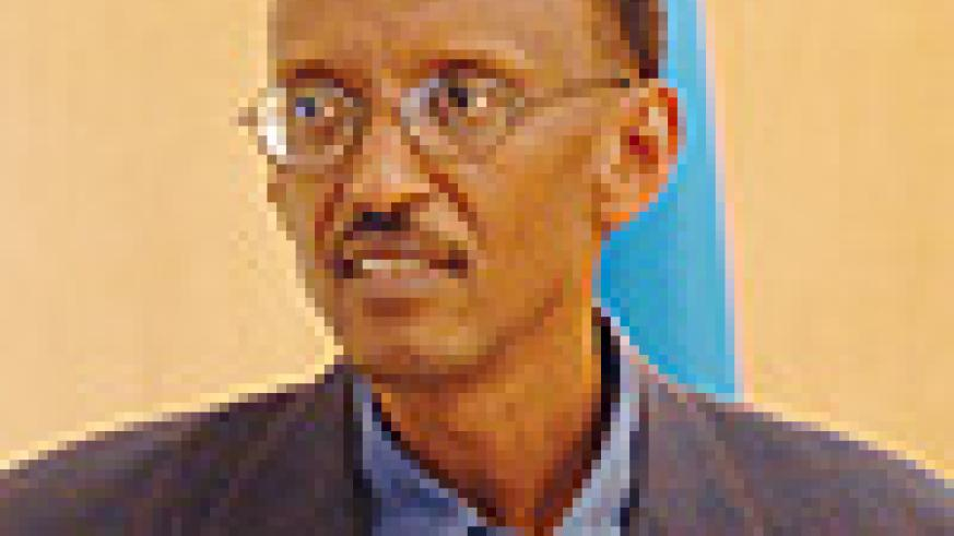 President Paul Kagame at this week's press conference (PPU photo)