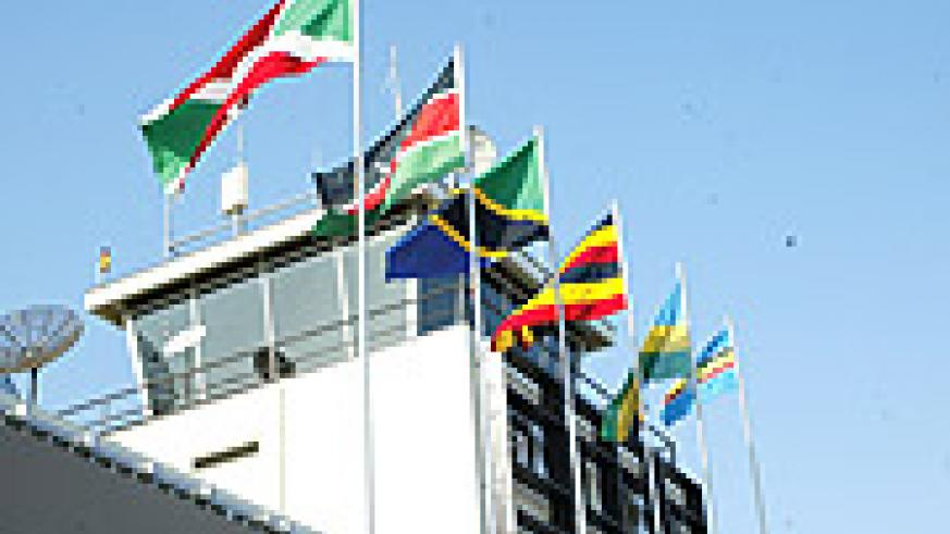 East African Community member state flags hoisted at Kigali International Airport. (Photo/G.Barya).