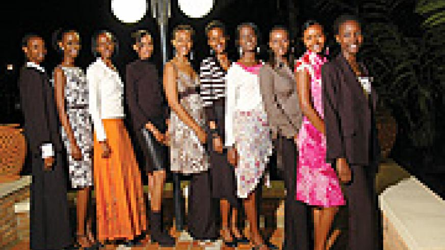 Miss Kigali 2008 contestants prove thin is now in. (File photo).