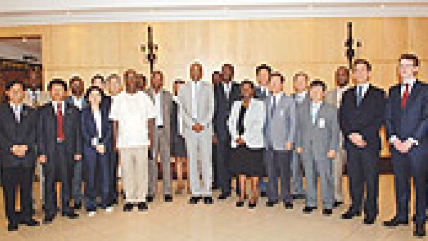 The South Korean delegation in a group photo with their Rwandan hosts. ( Courtesy photo).