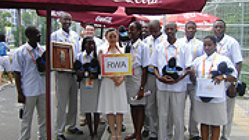 The Rwandans  team at the Olympics Games. (Photo /J. Mbaranga)