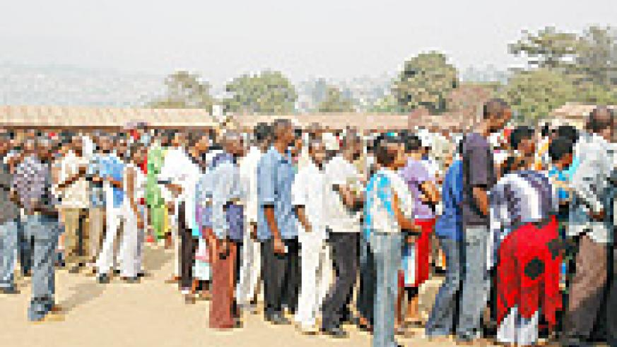 Long queues have characterised the new identity card process from the beginning (File photo)