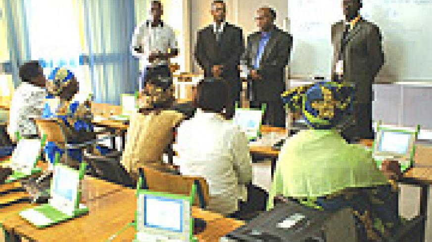 EQUIPPED: 5000 Laptops will soon be distributed to primary and secondary schools after teachers were trained on their use. (Photo/M.Gahigi).