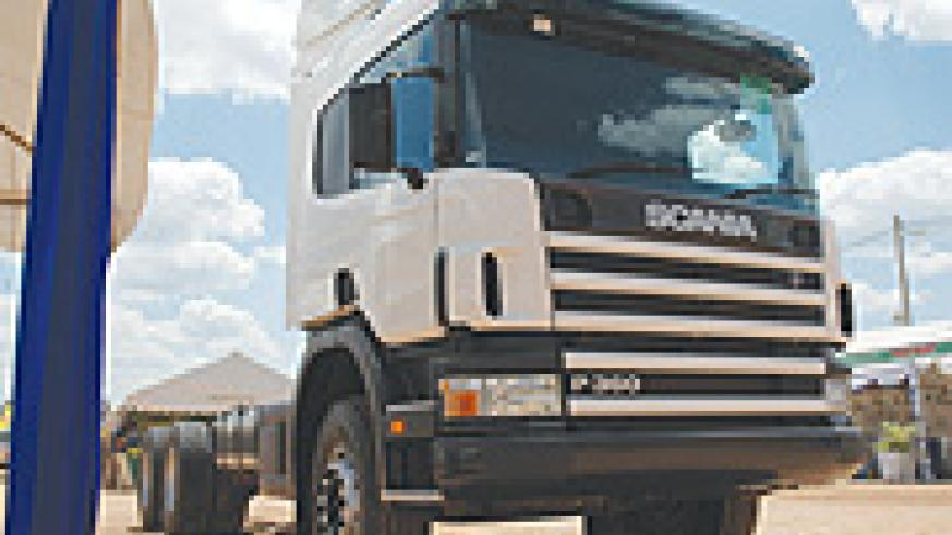 A Scania truck on display in Kigali. Scania has opened its first showroom in Rwanda Annual Gokondo Expo grounds in Kigali. (File photo)