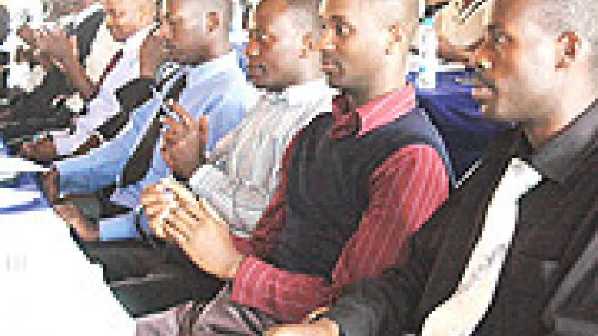 Participants from  institutions of higher learning listen attentively at the workshop organised by REMA. ( Photo G. Barya).