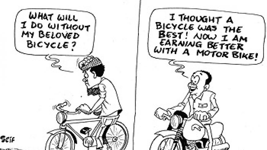 Following a ban on cycling for commercial purposes on Rwamagana highways, owners have now turned to motor cycles.