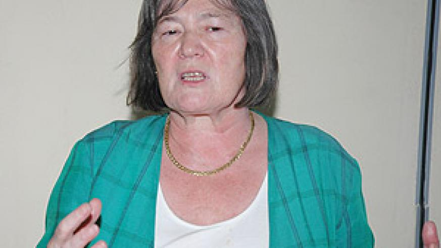 Claire Short at The New Times offices. Impressed by Rwanda's progress. ( Photo / G.Barya).