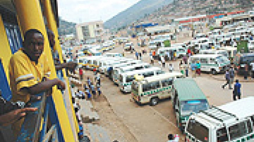 Nyabugogo taxi park operators illegally hiking charges. (File Photo)