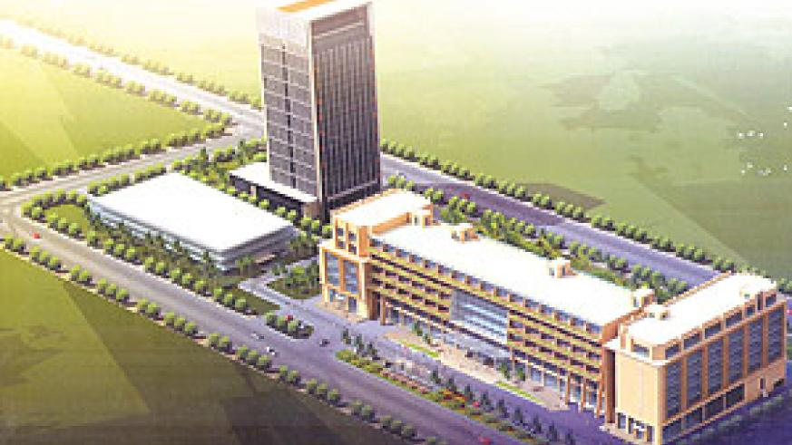 Artistic impression of Five-Star hotel to be constructed in Kigali City by Hong Kong registered company, New Century Development Limited.