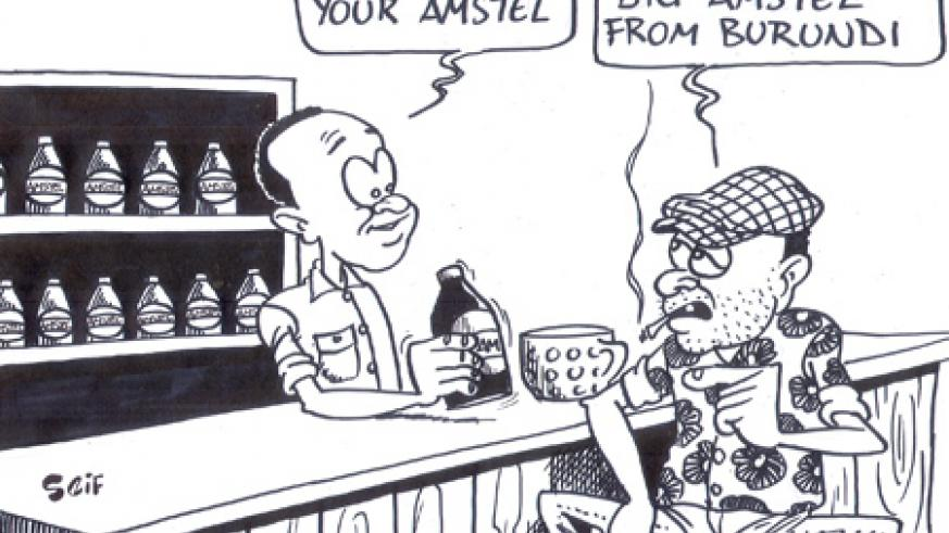 Rwanda revenue authority has impounded smuggled amstel from Burundi.