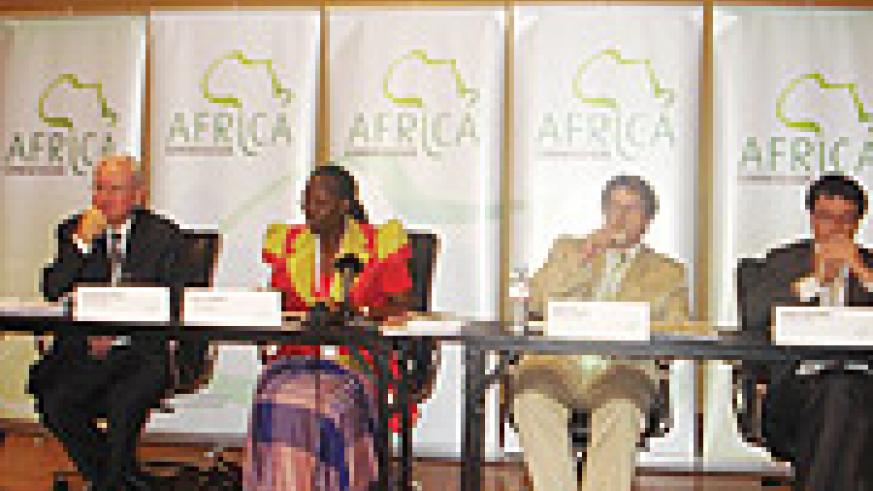 Members of the African Commision during deliberations in Kampala. (Photo B.Namata).
