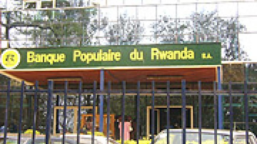 Banque Populaire du Rwanda: One of the financial institutions in Kigali. (File photo).
